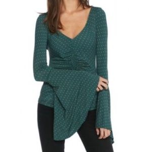 NWT.Free People  What A Babe Top .Green.